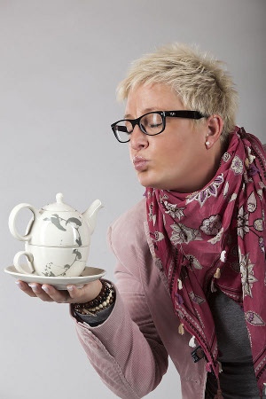 Meike Weber mit Tea for one